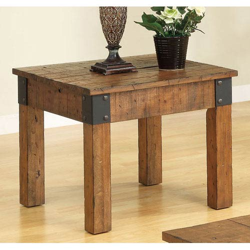 Coaster Furniture Distressed Country Wagon End Table