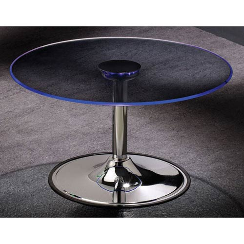 Coaster Furniture Transitioning LED Coffee Table with Chrome Base