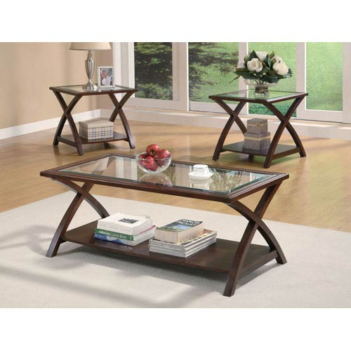 Strange Cappuccino Coffee Table And End Table Set Camellatalisay Diy Chair Ideas Camellatalisaycom