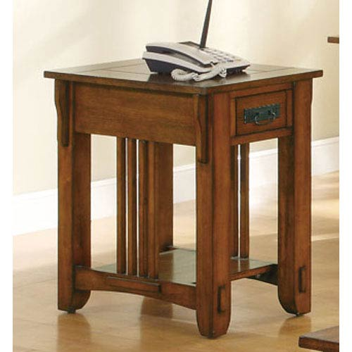 Drawer Side Table with Shelf