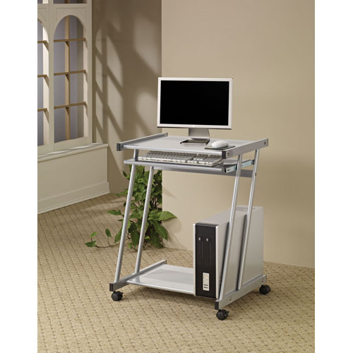 Coaster Furniture Computer Desk With Keyboard Tray And Casters