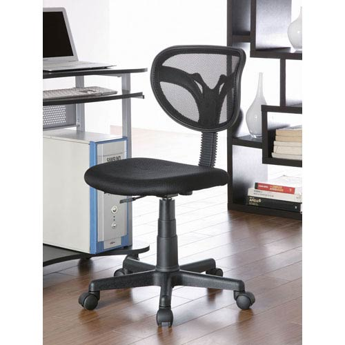Black Mesh Adjustable Height Task Chair