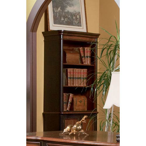 Coaster Furniture Pergola Open Bookcase With Lower Cabinet Doors