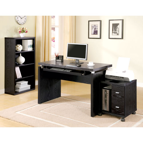 Coaster Furniture L Black Computer Desk With Keyboard Tray 2038800821 1