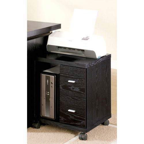 Coaster Furniture Peel Black Two Drawer Computer Stand