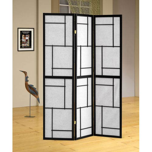 Coaster Furniture Three Panel Blacking Folding Screen