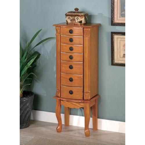 Coaster Furniture Classic Oak Jewelry Armoire 2038900135_1