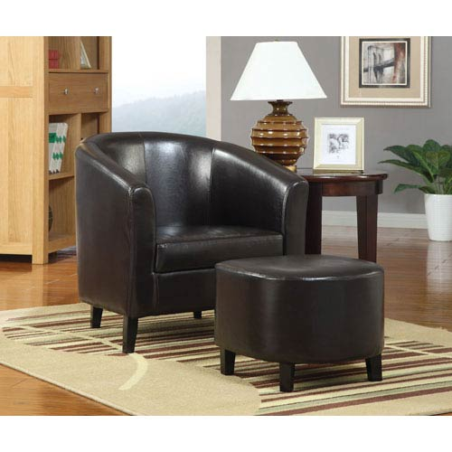 Marvelous Coaster Furniture Black Accent Chair With Ottoman Machost Co Dining Chair Design Ideas Machostcouk