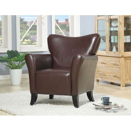 Coaster Furniture Brown Contemporary Vinyl Upholstered Chair