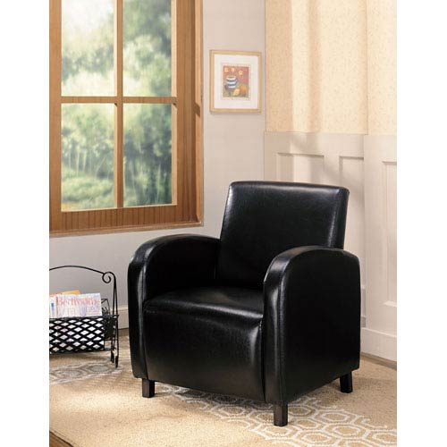 Coaster Furniture Dark Brown Vinyl Upholstered Arm Chair