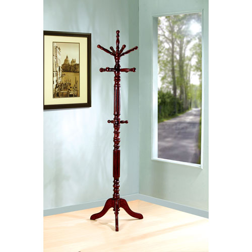 Coaster Furniture Walnut Traditional Coat Rack with Spinning Top