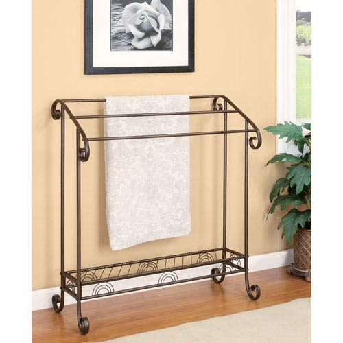 Dark Bronze Towel Rack
