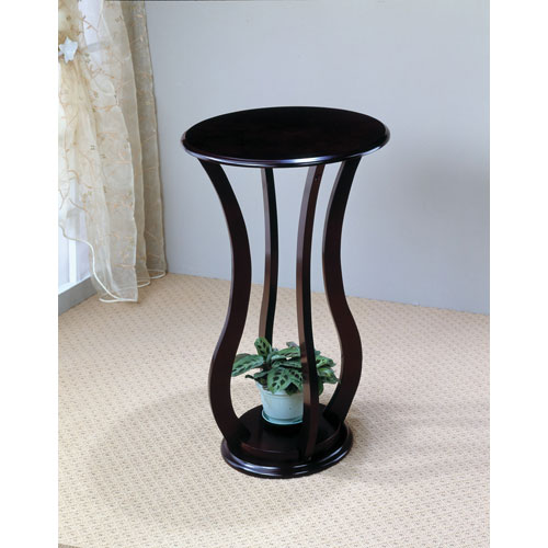 Coaster Furniture Cherry Round Plant Stand