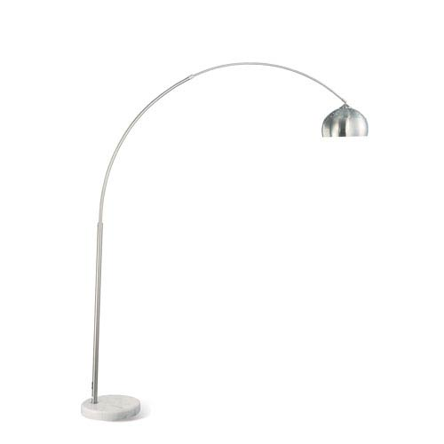 Chrome Contemporary Metal Floor Lamp