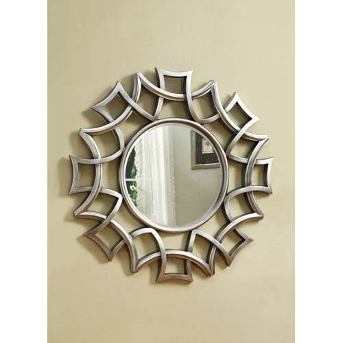 Silver Starburst Accent Mirror