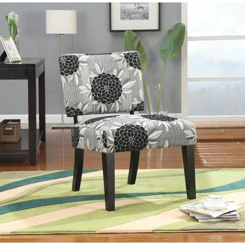 Coaster Furniture Gray Floral Accent Chair