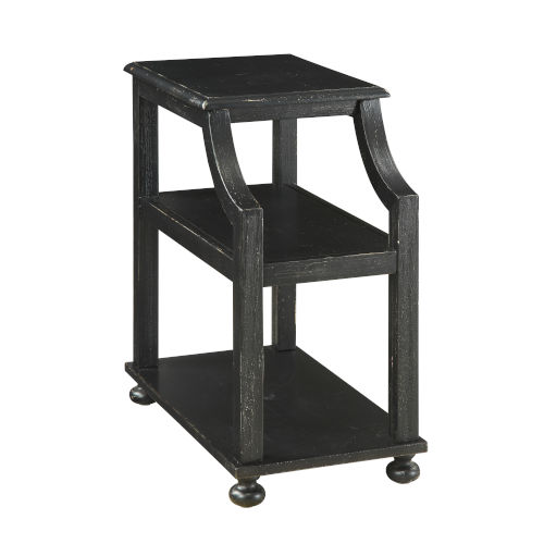 Chairside Black End Table