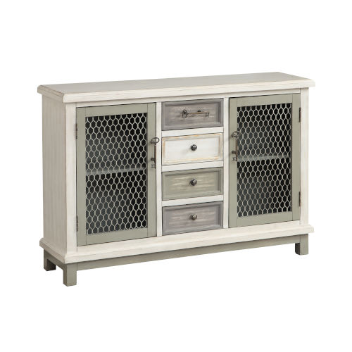 Creamy White Two-Door Four-Drawer Buffet