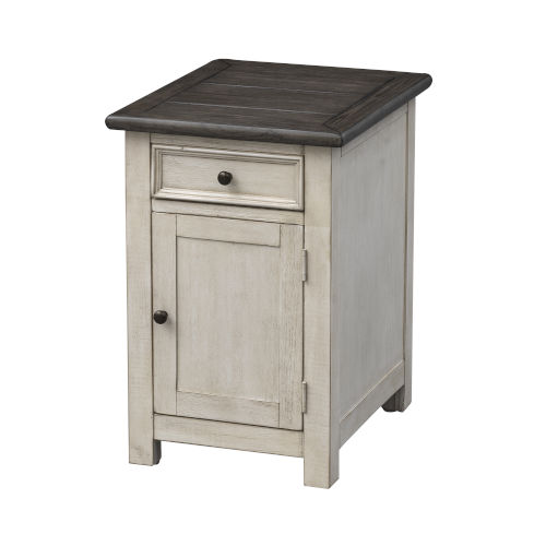 St Claire Ivory Door-Drawer End Table