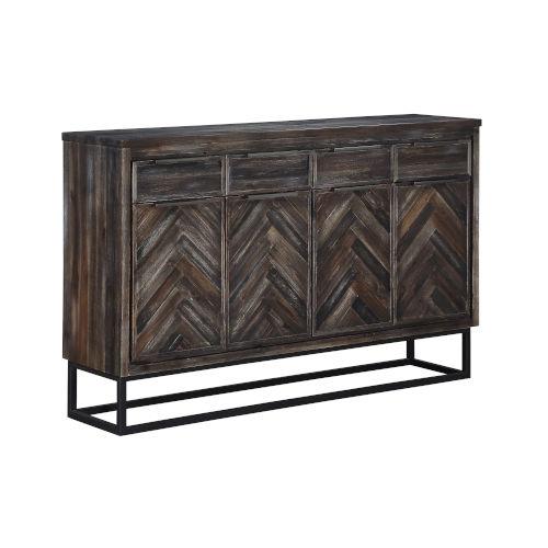 Aspen Brown Four-Door Tv Stand Cabinet