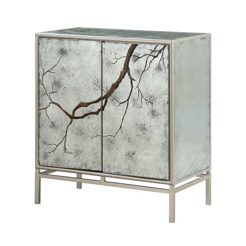 Silver Two-Door Cabinet