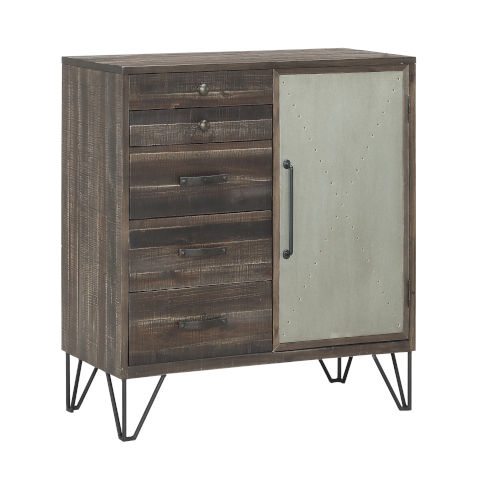 Raider Vintage Grey and Brown 36-Inch Cabinet