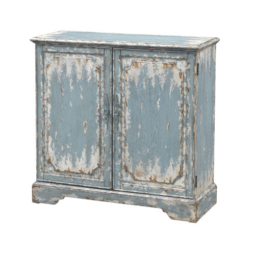 Cabot Aged Blue and Cream 38-Inch Cabinet