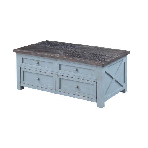 Bar Harbor Blue 46-Inch Cocktail Table