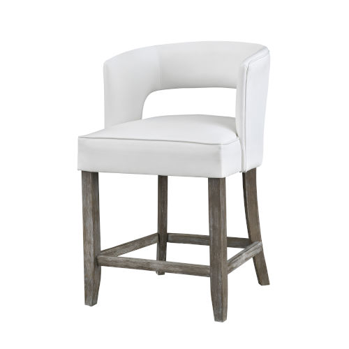 Philly Brown White Fabric Bar Stool