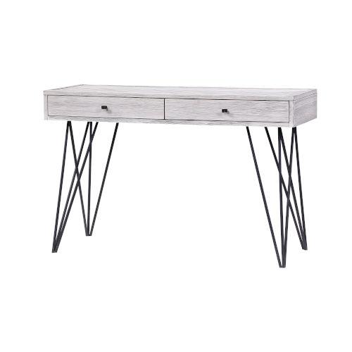 Aspen Court II Court Herringbone White Rub Two-Drawer Console Table