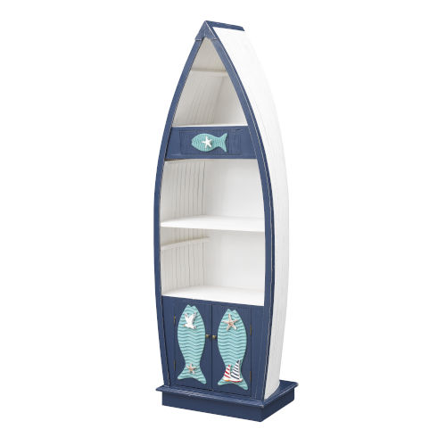 Ahoy there Blue and White Bookcase