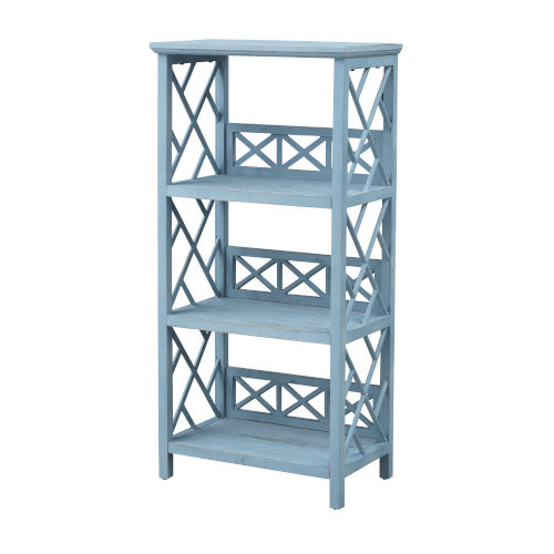 Clear Sailing Blue Sky Rectangle Bookcase