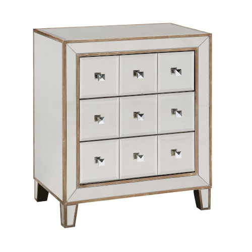 Bridget Brown Antiqued Mirror Cabinet