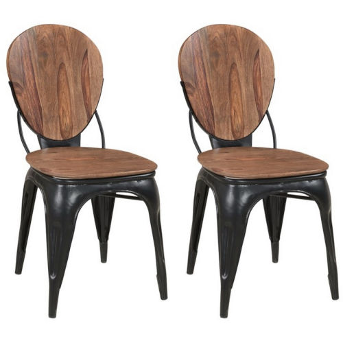 Bradford Brownstone Nut Brown Finish Dining Chair, Set of Two