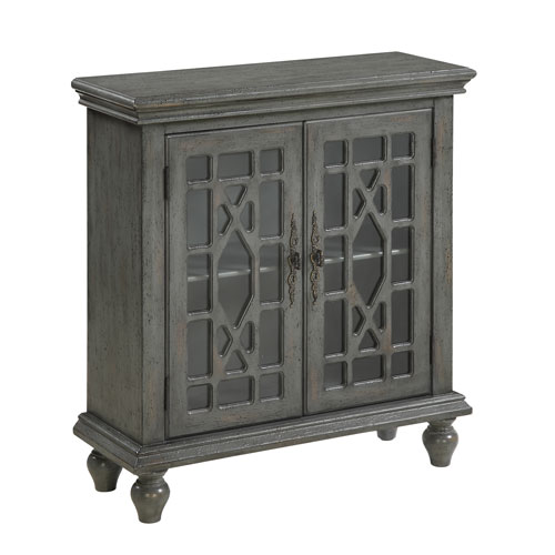 Coast to Coast Imports  Grey Two Door Cabinet