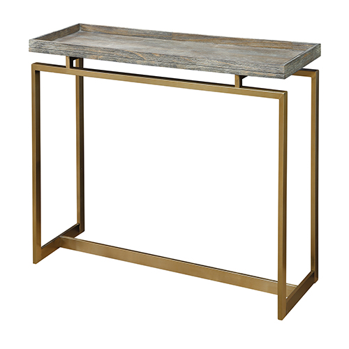 Weathered Brown Console Table