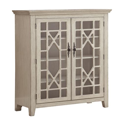 Ivory Two Door Bookcase