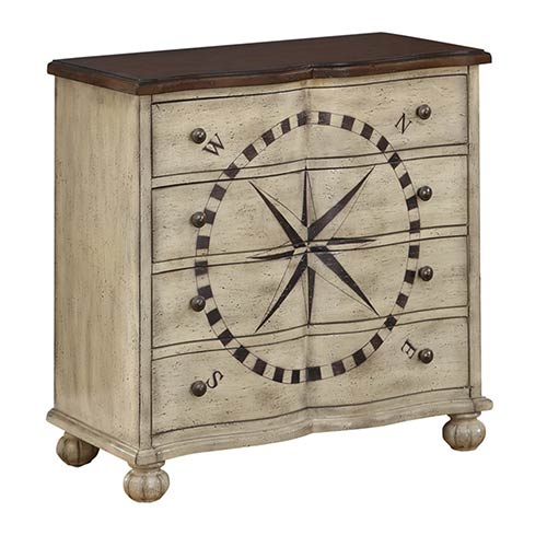 Coast to Coast Imports  Ivory Four Drawer Chest