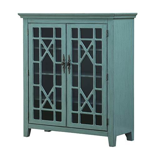 Coast to Coast Imports  Blue Two Door Bookcase