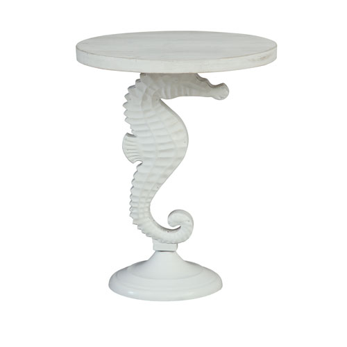 Coast To Coast Imports Accent Table In White 30416 Bellacor