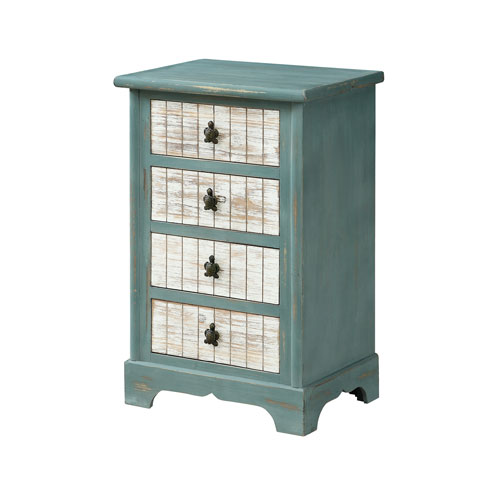 Four Drawer Accent Chest in Blue
