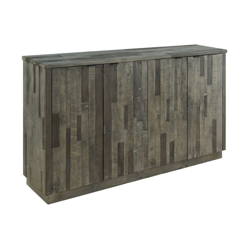 Heartland Four Door Media Credenza in Gray