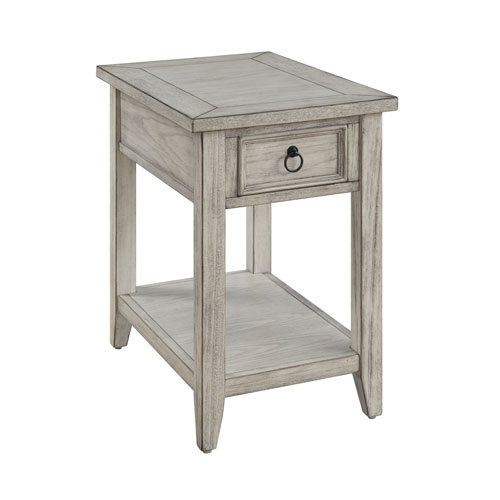 Summerville One Drawer Chairside Table in Cream