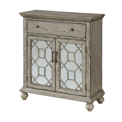 Two Door One Drawer Cabinet in Ivory