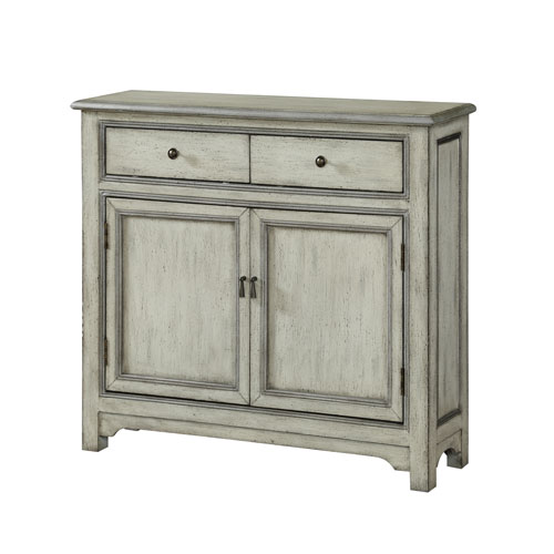 Two Door Two Drawer Cabinet in Cream