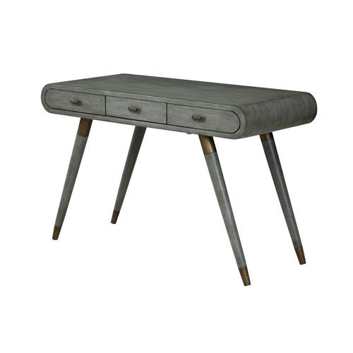 Three Drawer Desk in Gray