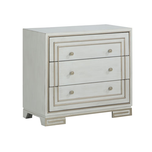 Three Drawer Chest in Ivory