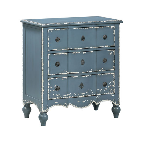 Three Drawer Chest in Blue