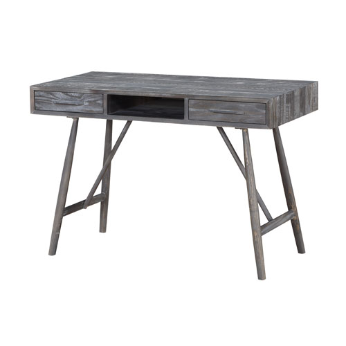 Two Drawer Desk in Gray