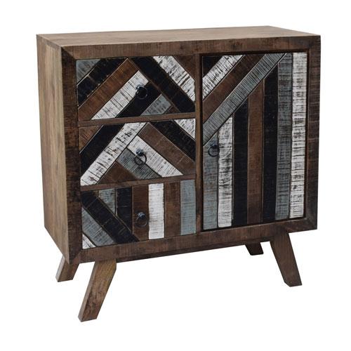 Beau Coast To Coast Imports One Door Three Drawer Mango Wood Cabinet